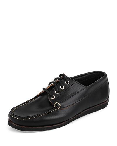 Falmouth USA Camp Moc Boat Shoe, Black