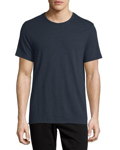 Colorblock Short-Sleeve Jersey Tee, Navy