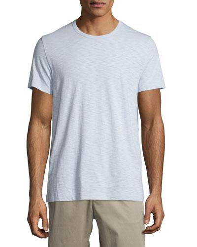 Short-Sleeve Slub Jersey Tee, Lucent Blue