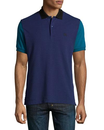 Gravehurst Colorblock Piqué Polo Shirt, Indigo