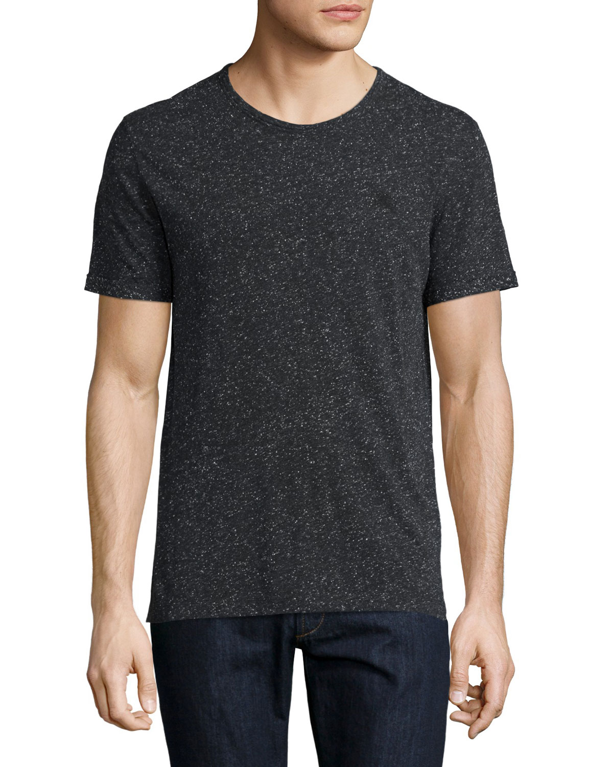 Millbrook Flecked Jersey T-Shirt, Black