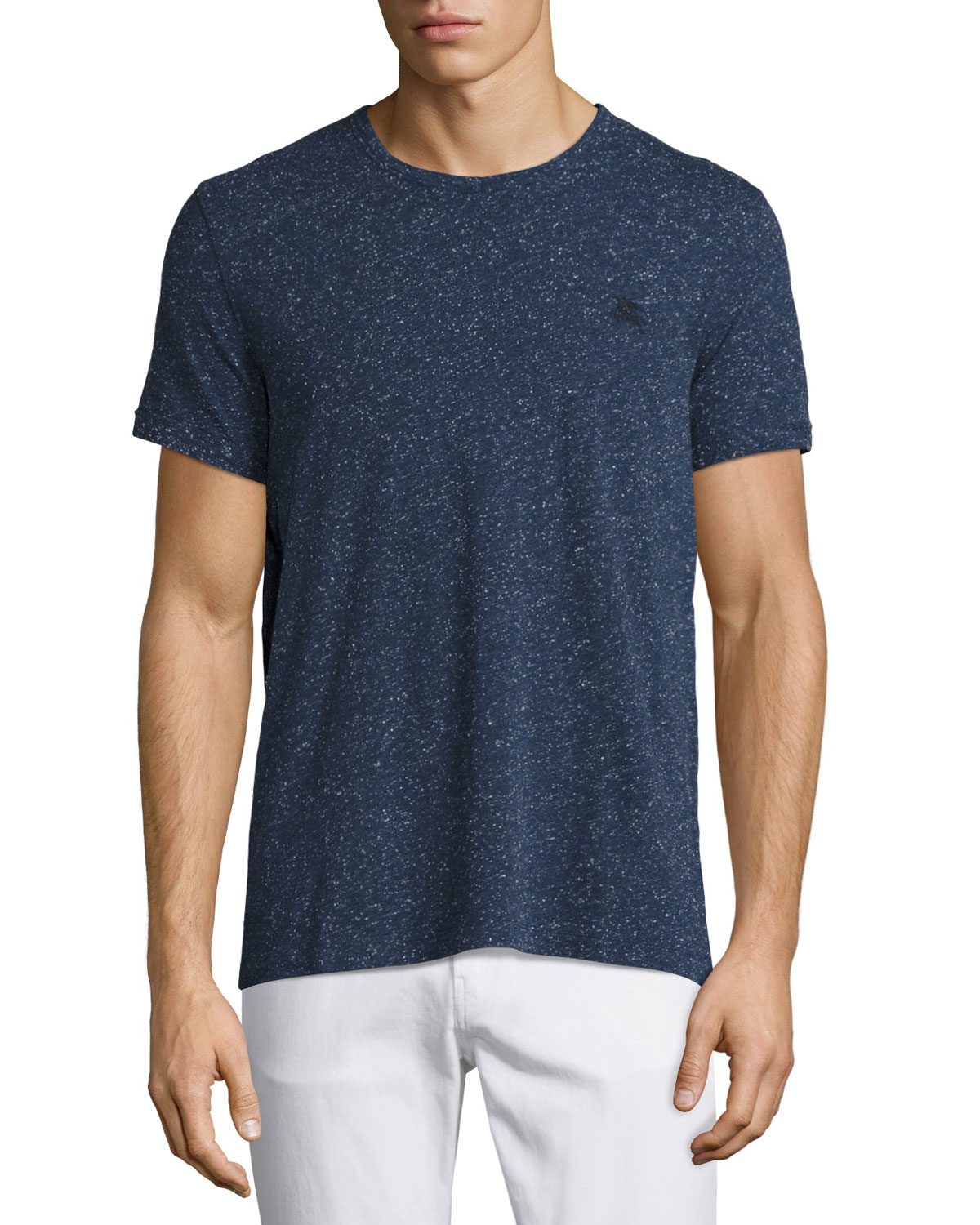 Millbrook Flecked Jersey T-Shirt, Dark Navy