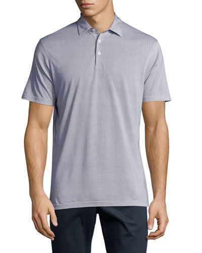 Pin-Dot Polo Shirt, Barchetta Blue