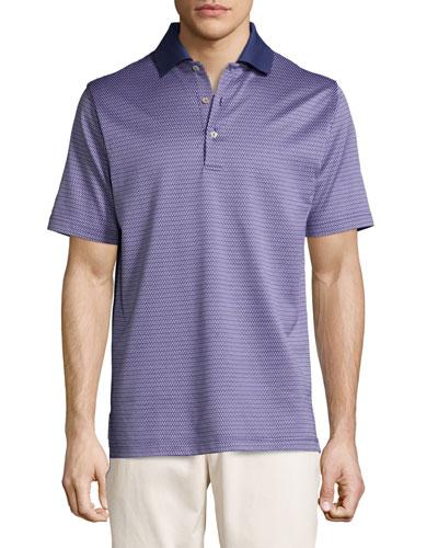 Ophelia Jacquard Short-Sleeve Polo Shirt