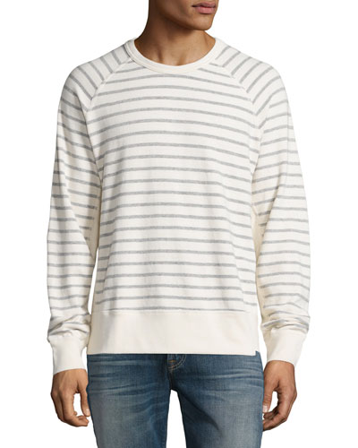 Striped Long-Sleeve T-Shirt, Ecru Stripe