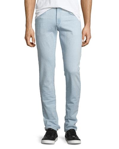 Tyler Slim-Fit Denim Jeans, Light Blue