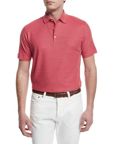 Gran Short-Sleeve Pique Polo Shirt, Red