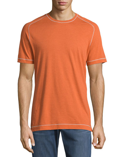 Flagstaff Contrast-Stitch Short-Sleeve Tee