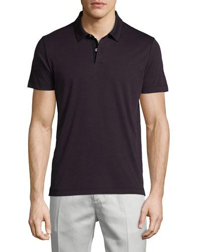 Sandhurst Tipped Pique Polo Shirt, Imperial