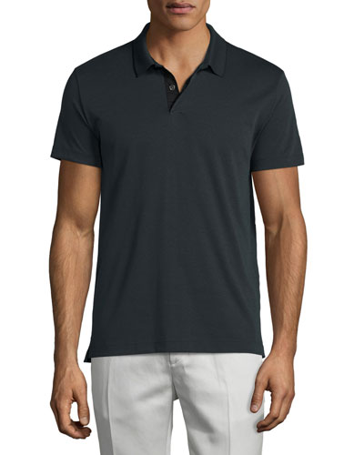 Sandhurst Tipped Pique Polo Shirt, Twombly