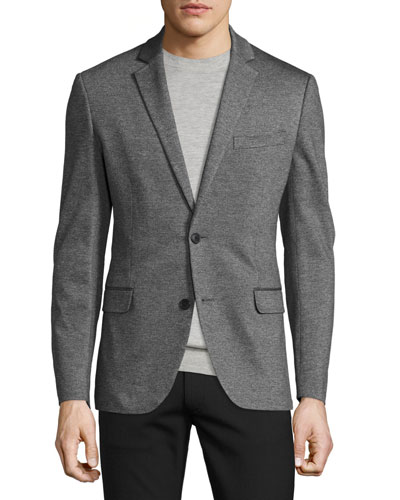 Rodolf Double-Face Blazer, Charcoal