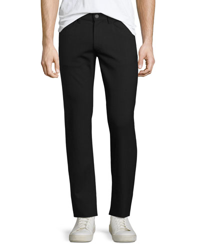 Raffi Stretch-Wool Slim Pants, Charcoal