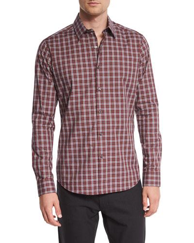Sylvain Plaid Sport Shirt, Babur Multi