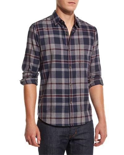 Rammis Light Flannel Plaid Shirt, Eclipse Multi