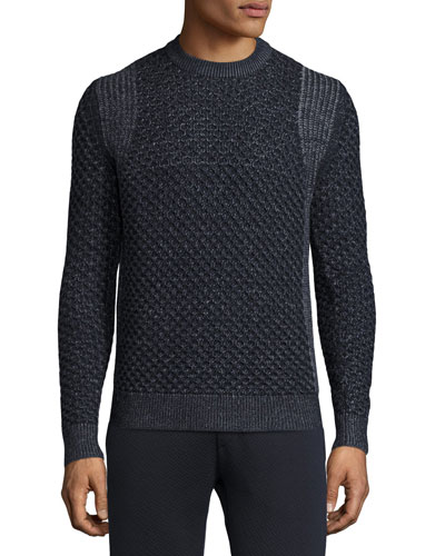Cellan Cable-Knit Merino Wool Sweater, Eclipse Multi