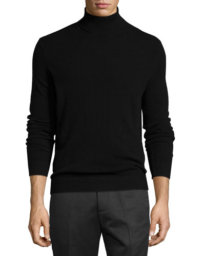 Donners Cashmere Turtleneck Sweater, Black