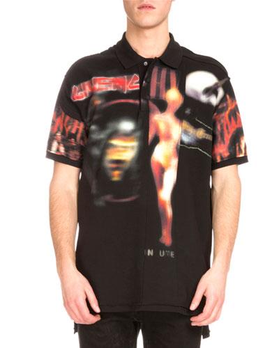 Heavy Metal Logo-Print Polo Shirt