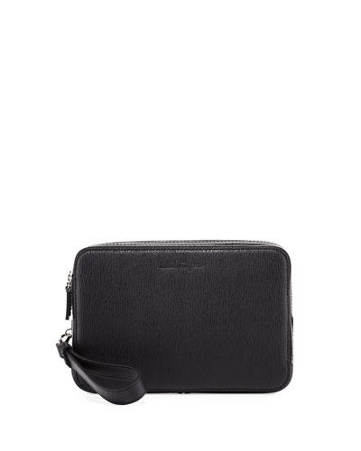 Revival Men's Leather Clutch Bag, Black