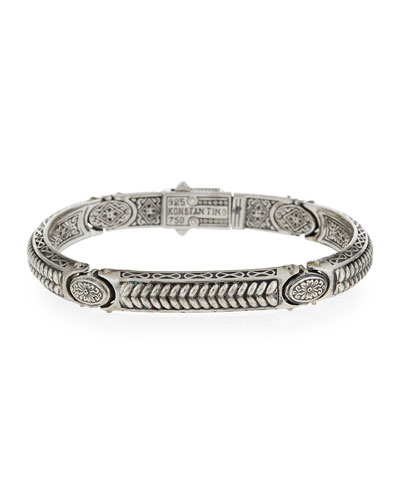 Sterling Silver Braided ID Bracelet