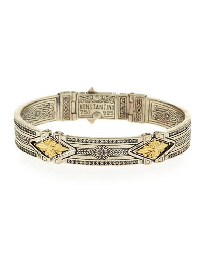 Sterling Silver Bracelet with 18k Gold