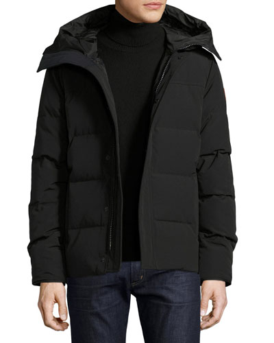 Macmillan Hooded Parka Coat, Black