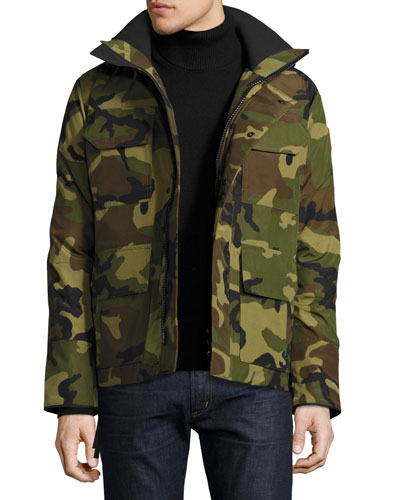 Maitland Hooded Parka, Green Multi Camouflage