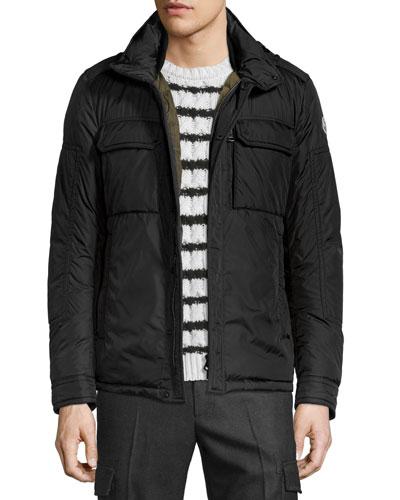 Daumier Nylon Field Jacket, Black