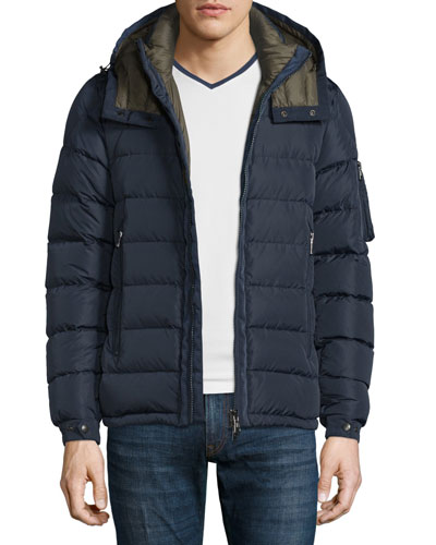 Danube Hooded Down Jacket, Navy