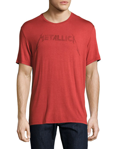 Metallica Logo Graphic T-Shirt, Red