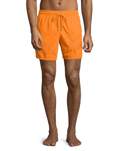 Mistral Swim Trunks W/3D Turtle, Orange