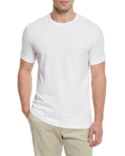 Classic Crewneck Piqué T-Shirt, White