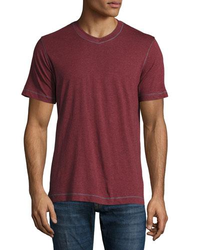 Nomads V-Neck T-Shirt, Heather Wine