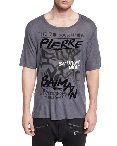 Logo Graphic Short-Sleeve T-Shirt, Dark Gray