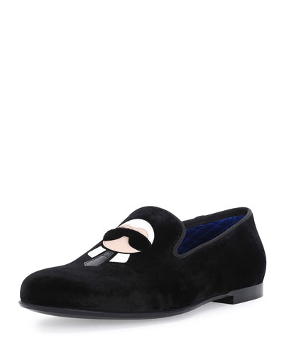 Karlito Formal Evening Slipper, Black