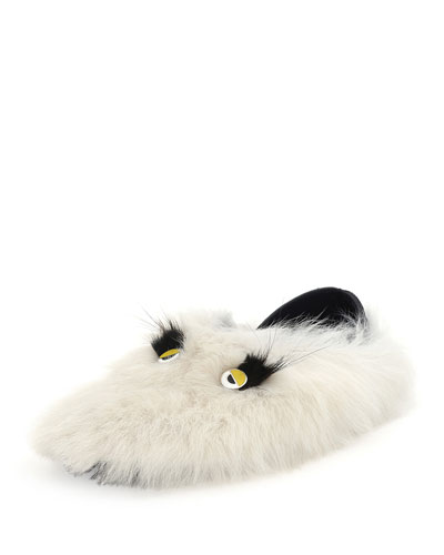 Monster Shearling & Fur Slipper