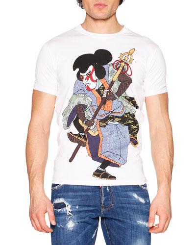 Samurai Graphic T-Shirt, White