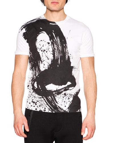 Paintbrush Graphic T-Shirt, White