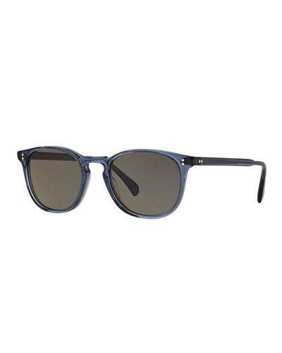 Finley Esq. 51 Acetate Sunglasses, Blue