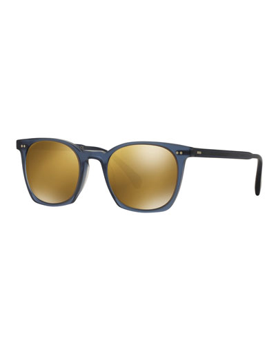 L.A. Coen 49 Acetate Sunglasses, Blue