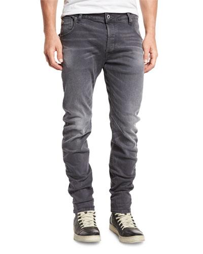 Arc 3D Zip Slim Jeans, Medium Aged