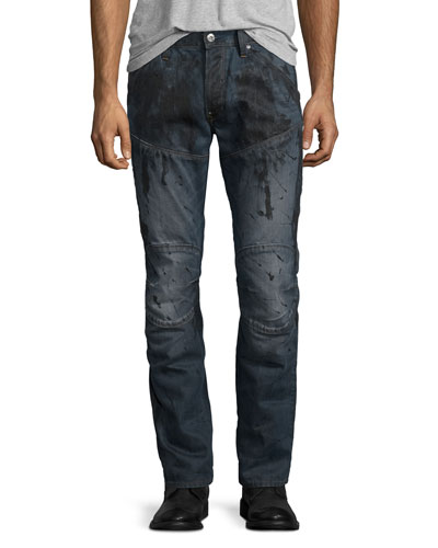5620 3D Super-Slim Jeans, Dark Aged Splatter