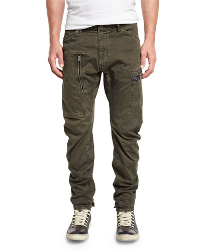 Power 3D Tapered-Cuff Pants, Raven