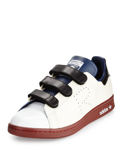 Stan Smith Triple-Strap Colorblock Sneaker, Cream/Blue/Brown