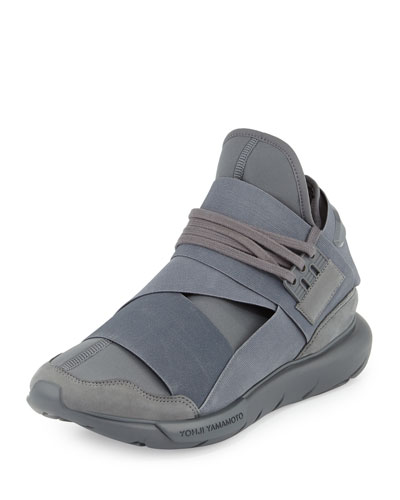 Qasa Men's High-Top Trainer Sneaker, Gray