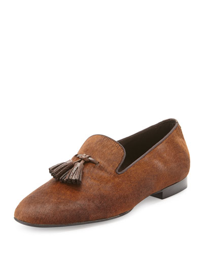 Chesterfield Calf Hair Tassel Loafer
