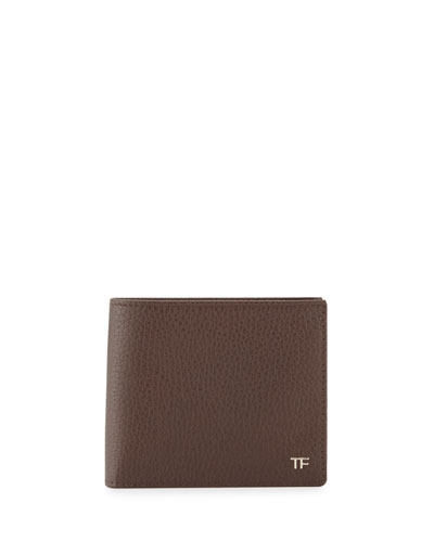Men's Leather Bi-Fold Wallet, Chocolate