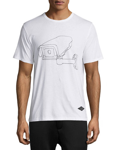 Watchman Graphic T-Shirt, White