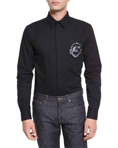 Monkey Brothers Woven Shirt, Black