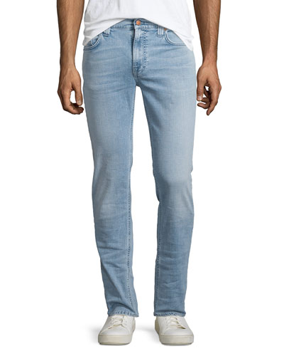 Thin Finn Broken Pale Slim Jeans, Light Blue
