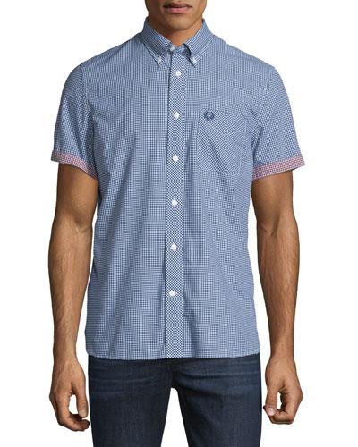 Gingham Short-Sleeve Sport Shirt